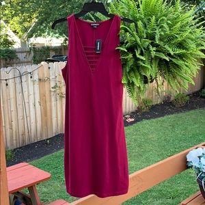 Express women Burgundy dress